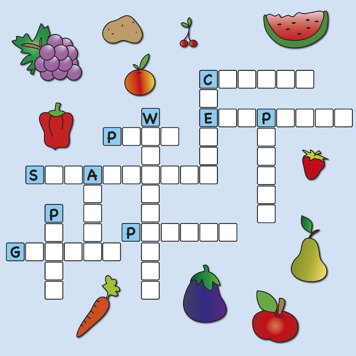 Crossword Puzzle: Fruit and Vegetables